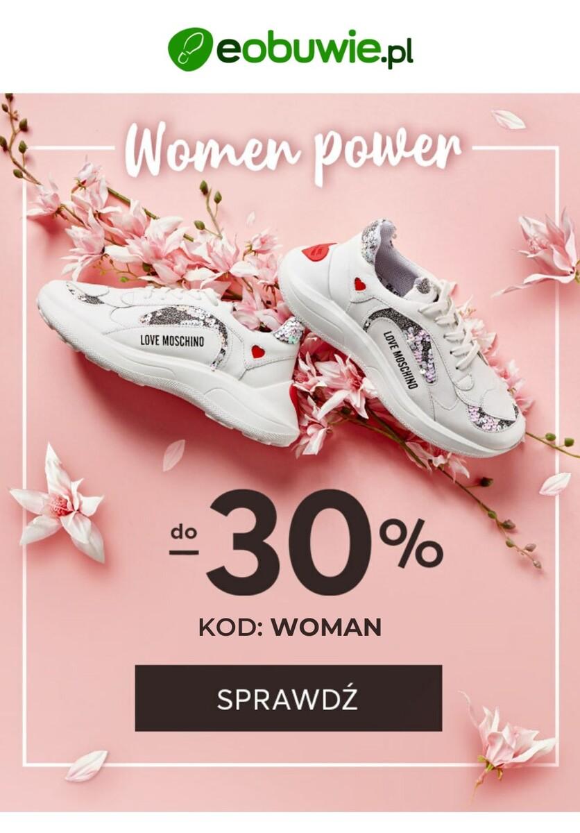 Gazetka 2020 Dzień Kobiet - Eobuwie.pl | Do -30% na Dzień Kobiet