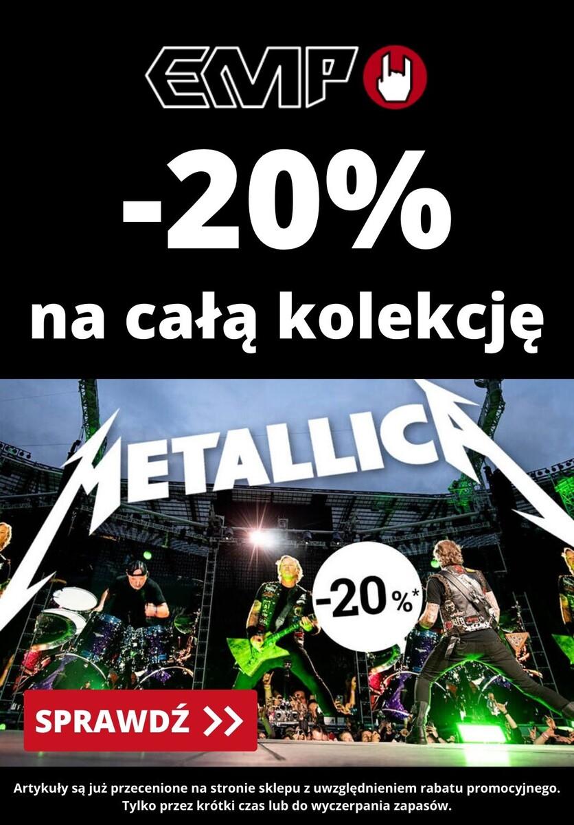 Gazetka EMP - -20% cała kolekcja Metallica