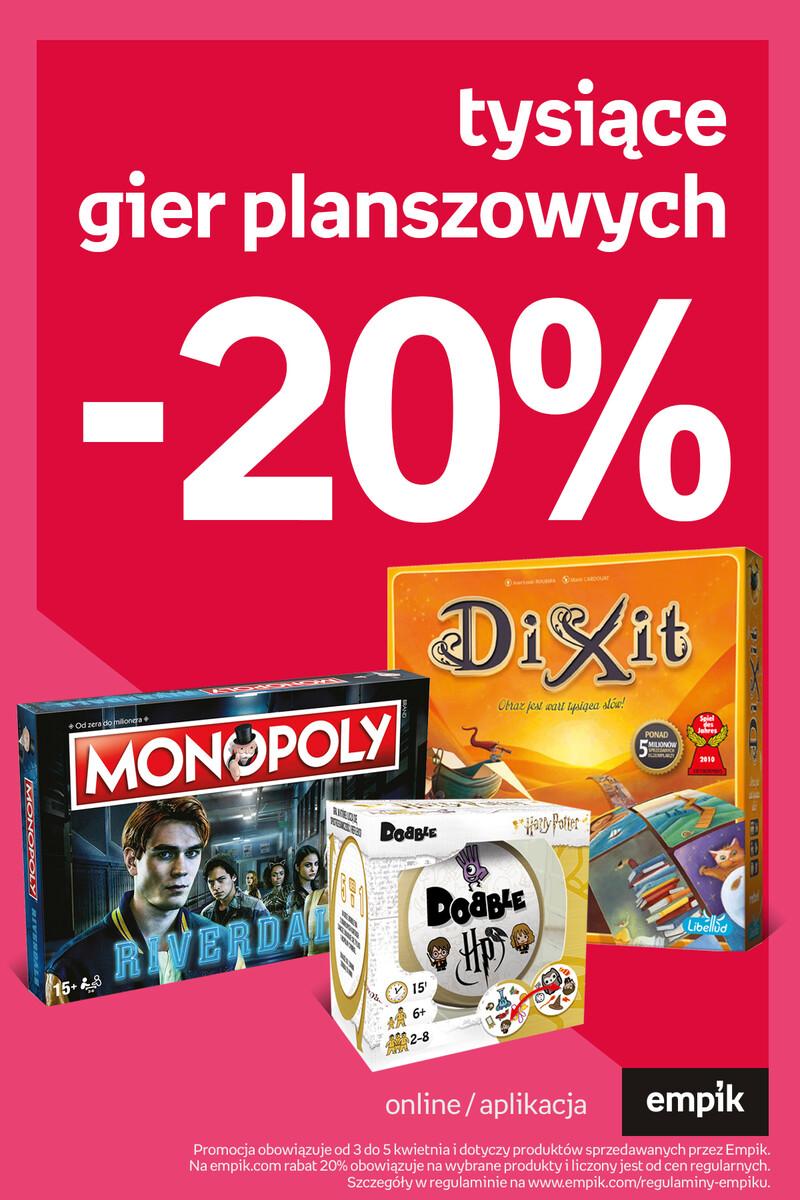 Gazetka Empik - Tysiące gier planszowych -20%