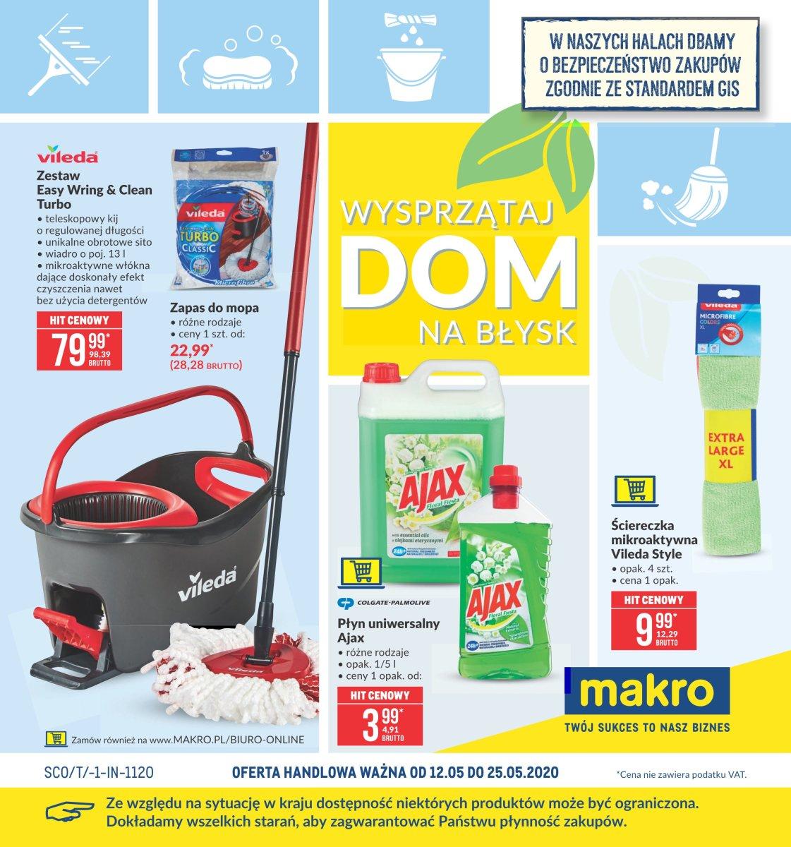 Gazetka Makro - Wysprzątaj dom na błysk