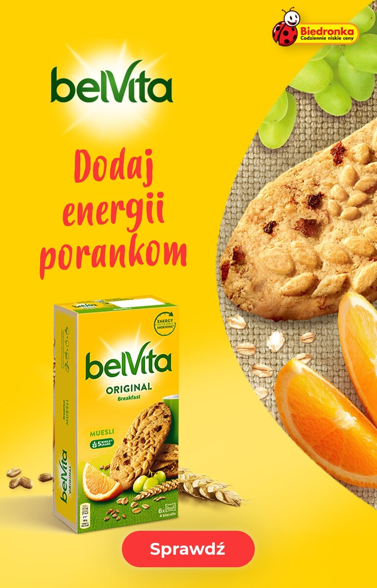 Gazetka Biedronka - Belvita - Dodaj energii porankom