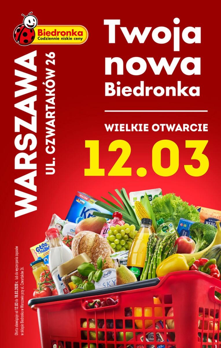 Gazetka Biedronka - WIELKIE OTWARCIE: Warszawa, ul. Czwartaków 26