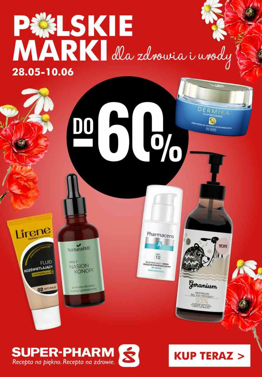 Gazetka Super-Pharm - Do -60% na polskie marki