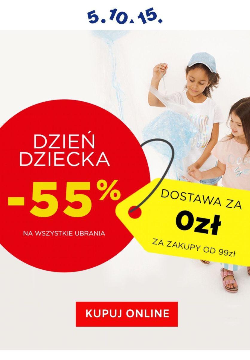 Gazetka 2020 SALE - 5.10.15. | -55% na ubrania + darmowa dostawa od 99 zł