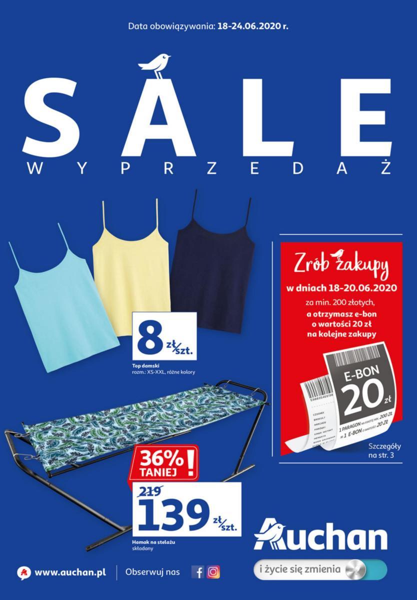 Gazetka Auchan - Sale Wyprzedaż - hipermarket