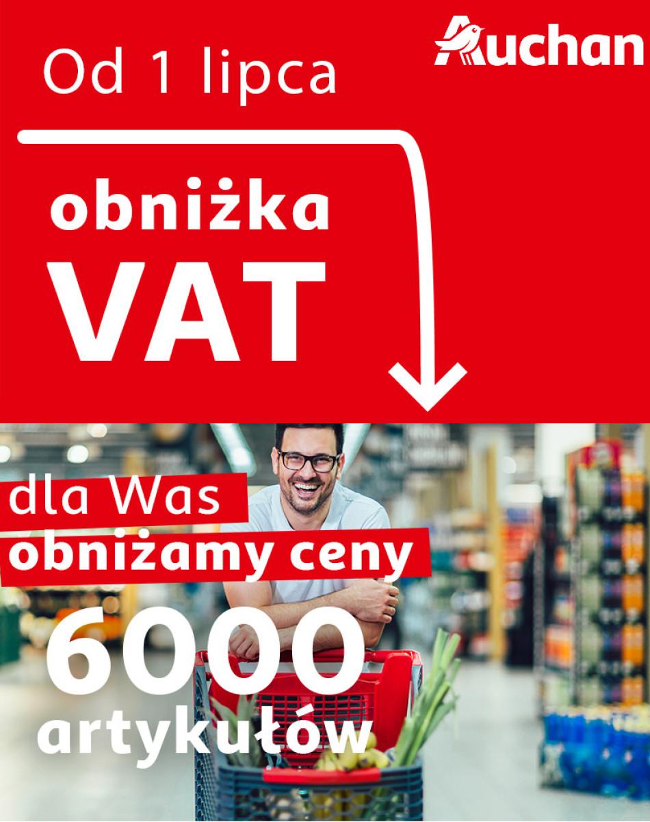 Gazetka Auchan - Obniżka VAT na 6000 artykułów