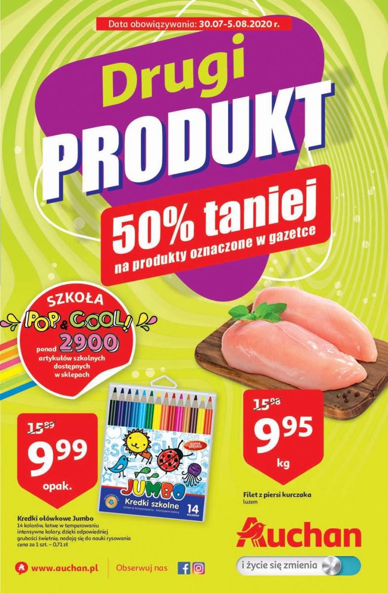 Gazetka Auchan - Drugi produkt 50% taniej