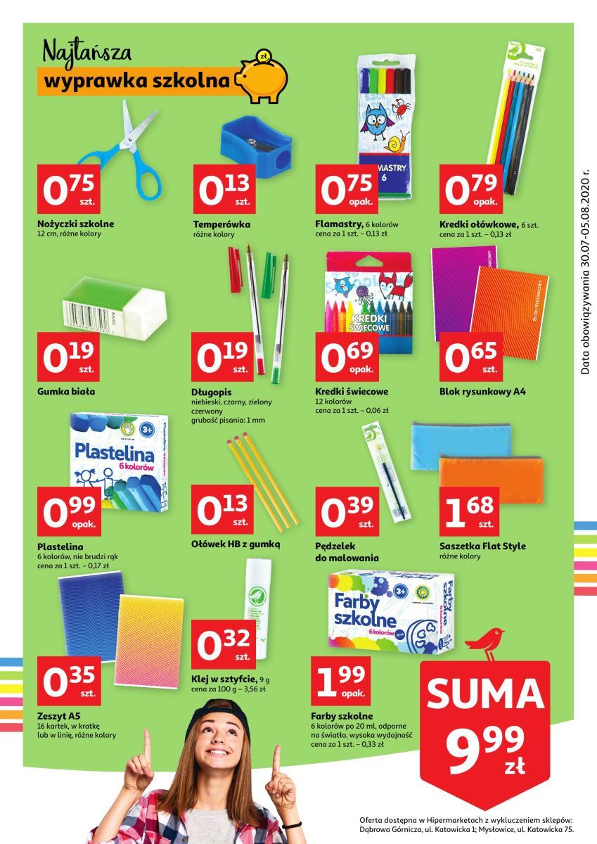 Gazetka Auchan - Wyprawka szkolna POP&COOL- hipermarket