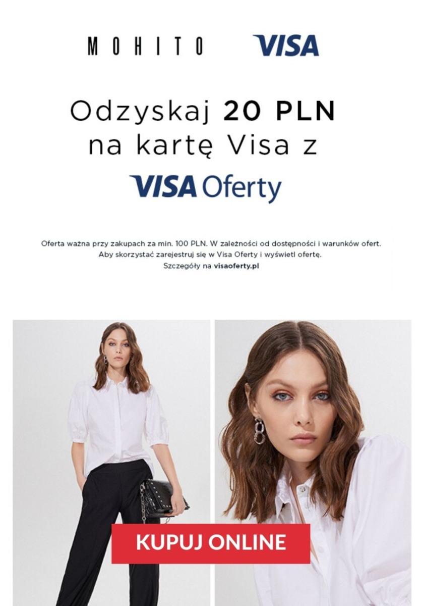 Gazetka Mohito - Zwrot 20 zł na kartę Visa