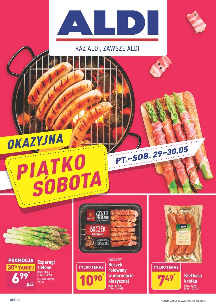 Gazetka Aldi - Okazyjna Piątko-Sobota od 29.05