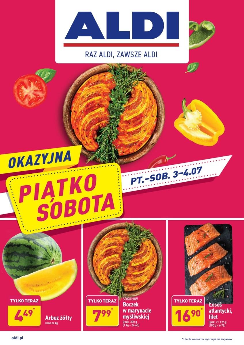 Gazetka Aldi - Okazyjna Piątko Sobota 03.07