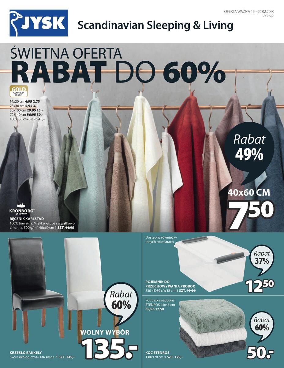 Gazetka Jysk - Świetna oferta - Rabat do 60%